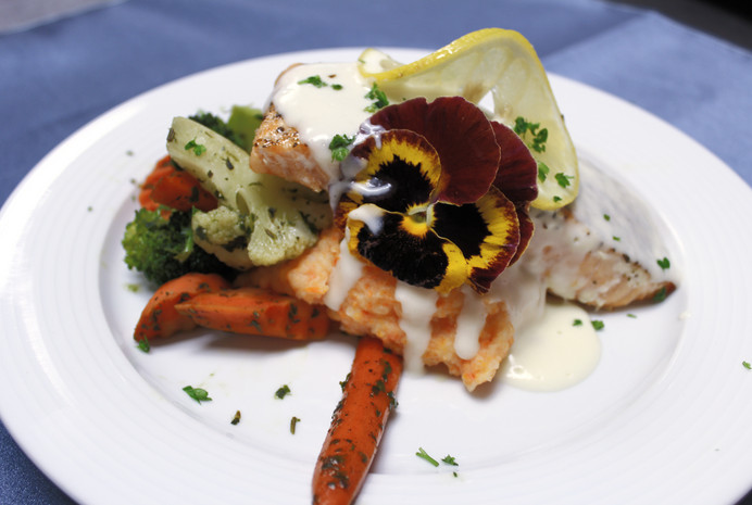 Pan Seared Salmon in Chardonnay Butter Sauce
