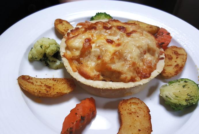 Caramelized Onions & Cauliflower Tart