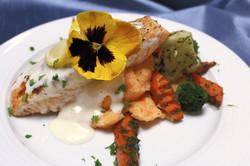 Herb Crusted Pan Seared Salmon