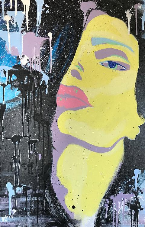 Nosheen Pervez Art Commission Mixed Media Canvas