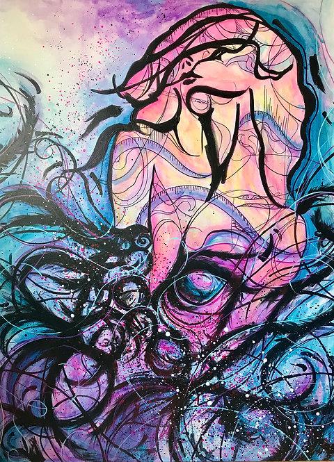 Nosheen Pervez Art Third Eye Acrylic Canvas