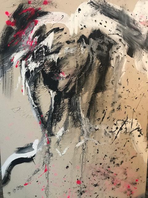 Nosheen Pervez Art Release Mixed Media Canvas