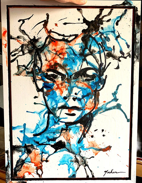 """Try to Concentrate - 22""""x16"""" Mixed Media"""