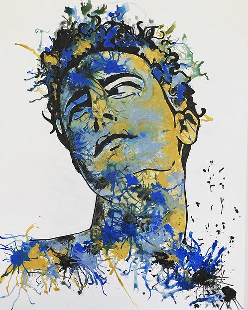 Nosheen Pervez Art Glance Mixed Media Canvas