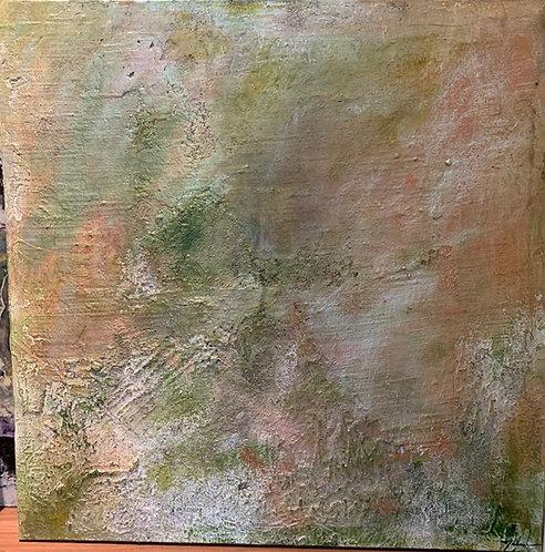 "Texture Series 36""x36"" Mixed Media Acrylic"