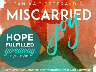 WINNER ANNOUNCEMENT: Miscarried Joy Hope Filled Giveaway
