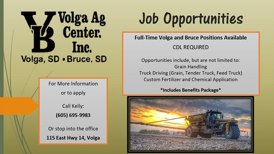 Job Opportunities @VolgaAgCenter