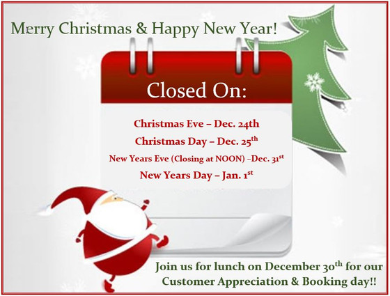 Christmas and New Years Hours!
