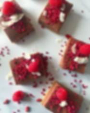 Creamy Chocolate._Ripe Raspberries._Crun