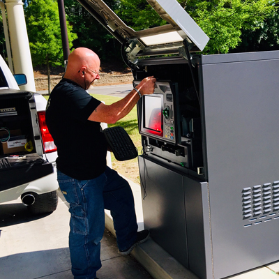 Servicing Drive Up ATM - Sized for FB