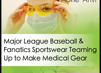 They used to make MLB uniforms. Now they're making medical masks and gowns