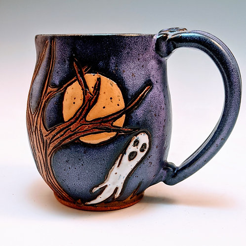 Ghost mug in purple (made to order about 3 weeks)