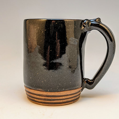 Straight up in black mini mug