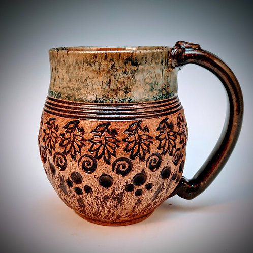 Agate bark and leaves mug
