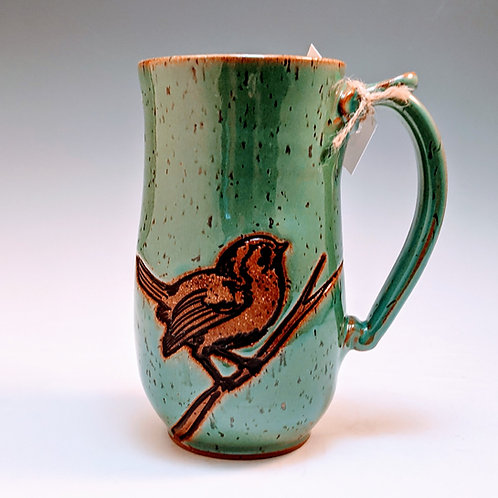Bird on a branch super mug