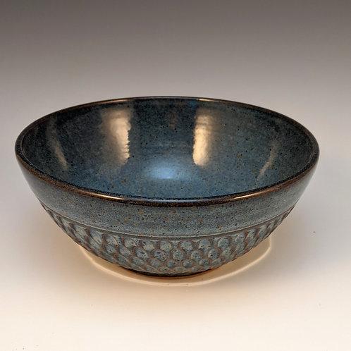 Blue divot carvedSmall bowl