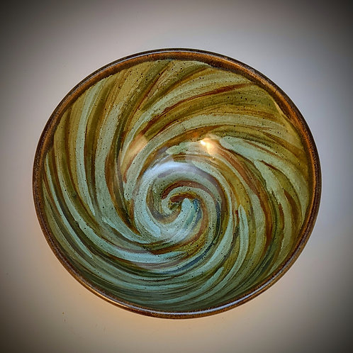 Fresh green spiral Small serving bowl