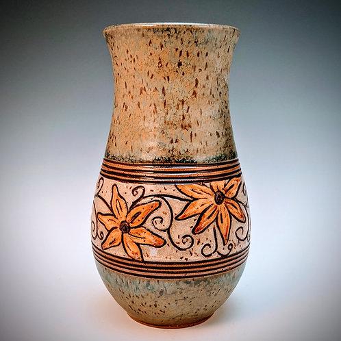 Yellow daisy vase