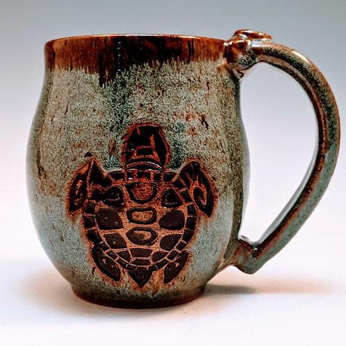Turtle block mug