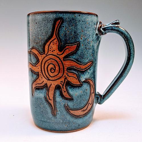 Extra big sun moon mug