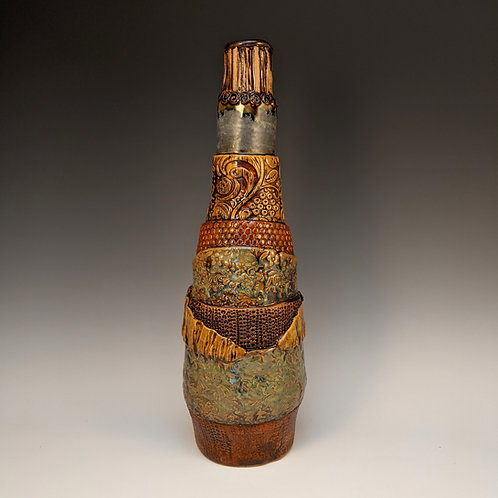 Wrap slab built bottle