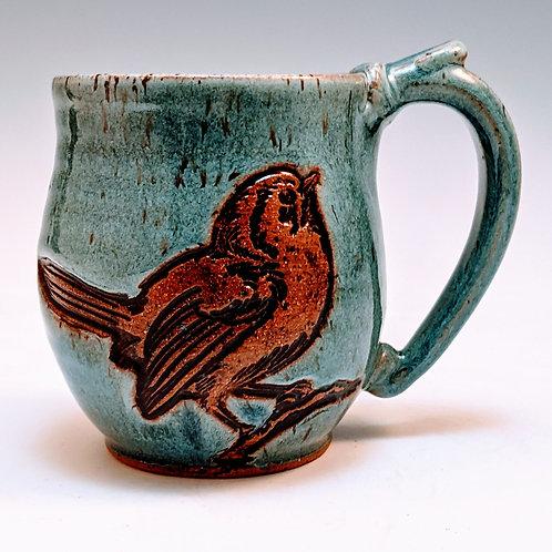 Bird on a branch mini mug