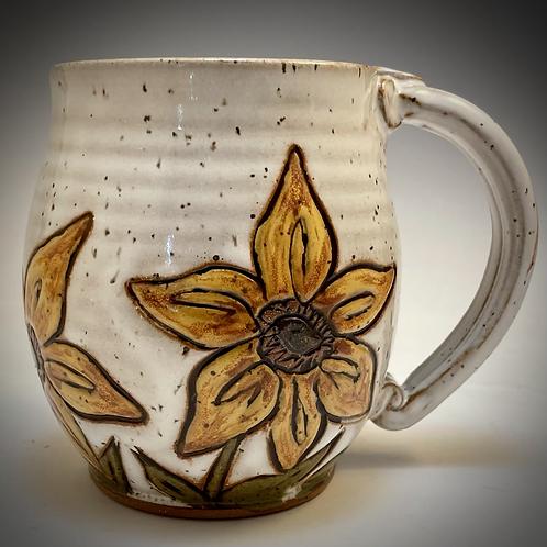 Sunflower Mug in White