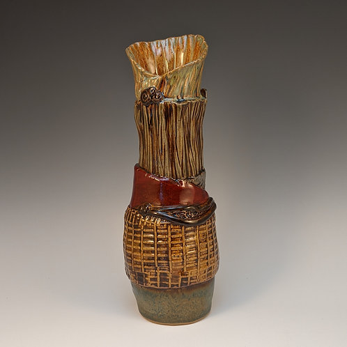 Slab layered vase