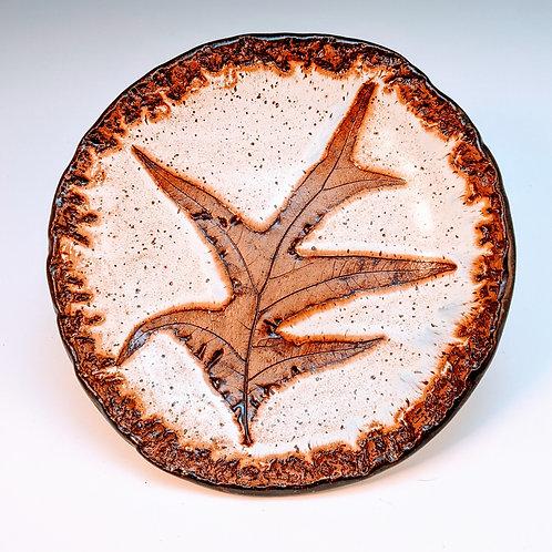 Turkey oak leaf dish