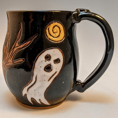 Ghost mug in black made to order about 3 weeks