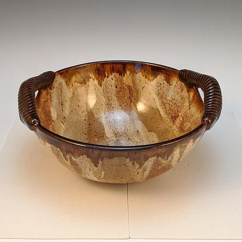 Small Handled serving bowl in jasper