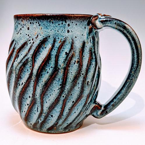 Carved blue rutile