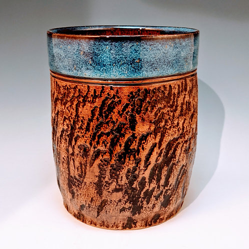 Bark and blue kitchen caddy