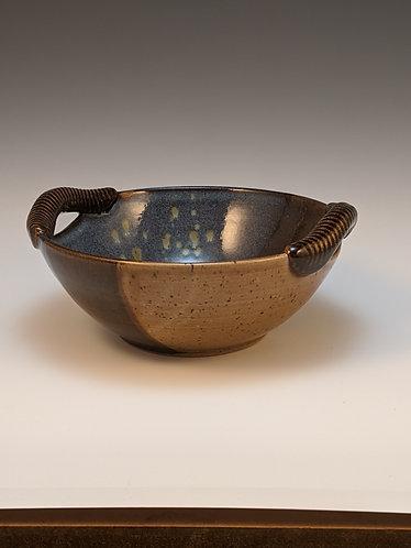 Handled serving bowl