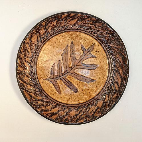 Turkey oak leaf plate