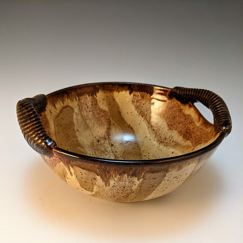 Small handle serving bowl