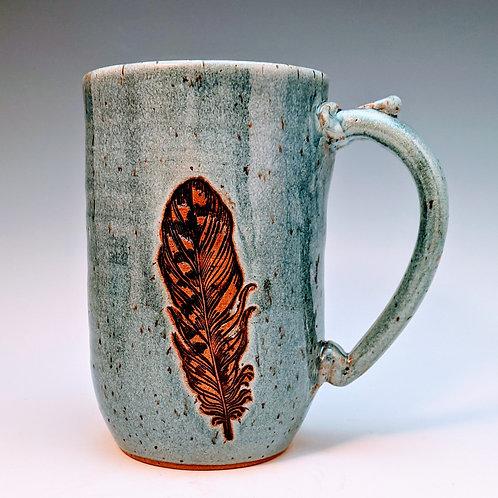 Extra big feather mug