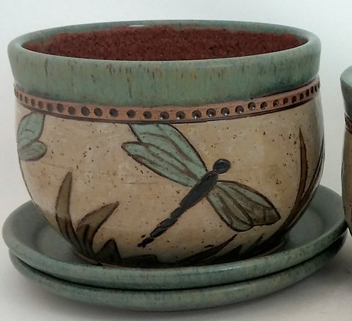 Dragonfly flower pot