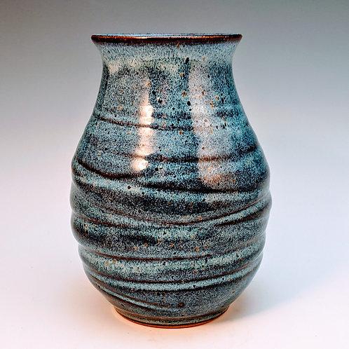 Blue rutile flower vase