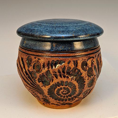 Blue shell jar