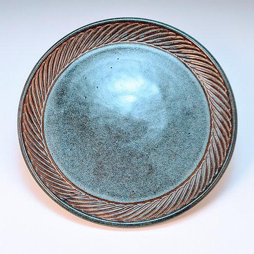 Blue rutile dinner plate