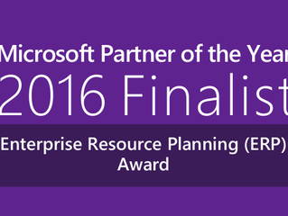 K3 Software Solutions recognized as finalist for 2016 Microsoft Enterprise Resource Planning (ERP) P