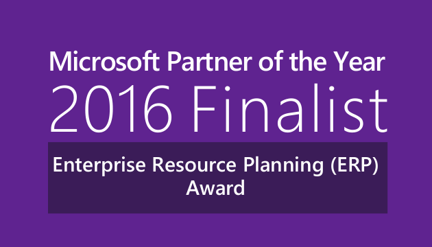 Microsoft Partner of the Year 2016 Finalist ERP