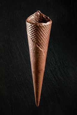 Barquillo artesano chocolate negro nº 45