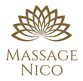 Brown Venn Diagram Massage Logo centered