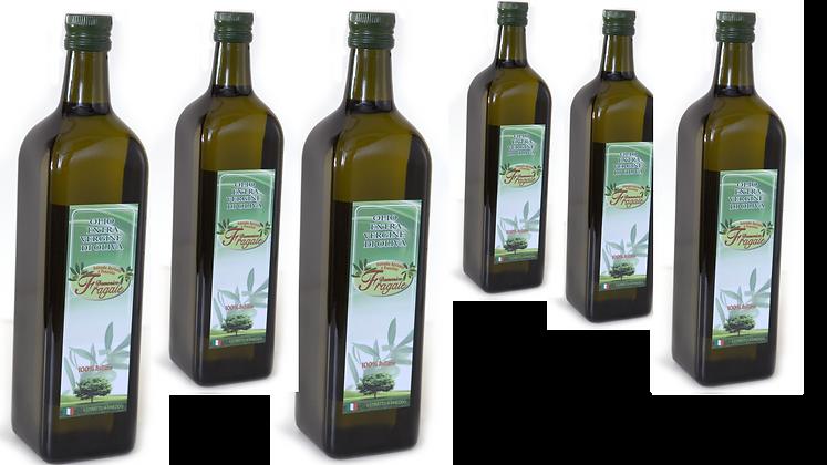 6 x Bottiglie da 1 lt di Olio Extra Vergine d'oliva