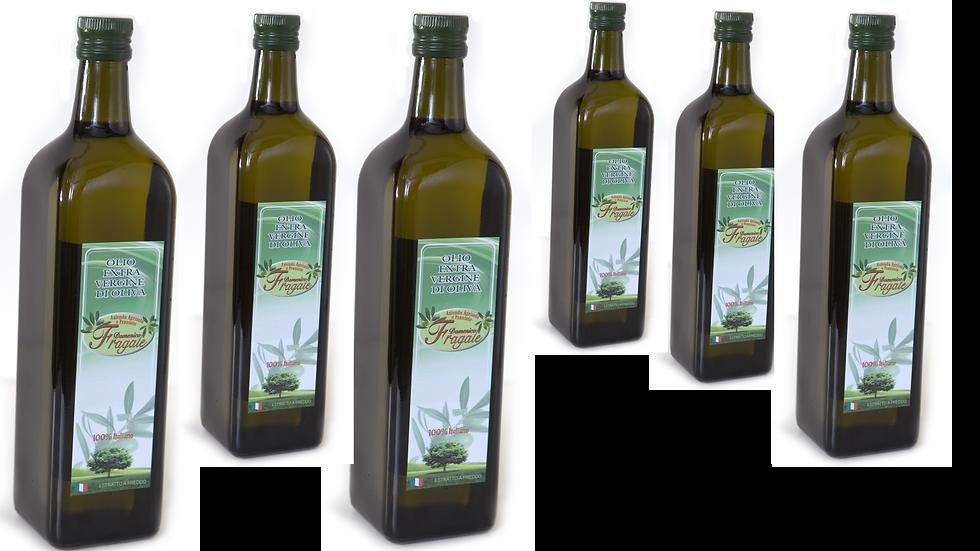 6 x Bottiglie da 1 lt di Olio Extra Vergine di Oliva