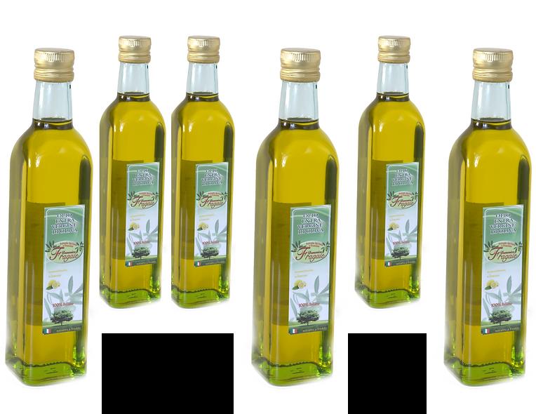 6 x  Bottiglie da 1lt di Olio EVO al Limone