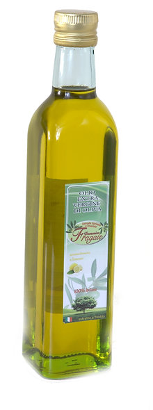 Bottiglia da 1lt di Olio EVO  monocutilvar  al Limone