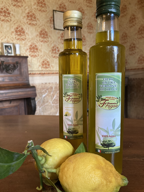 Composizione di Olio al Limone e Olio Evo